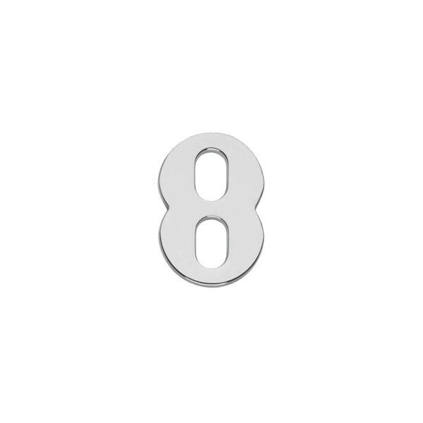 Intersteel Huisnummer 8 chroom