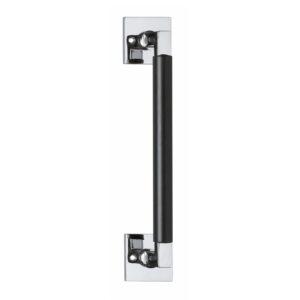 Intersteel Deurgreep Bau-Stil 250 mm vierkant rozet chroom/mat zwart