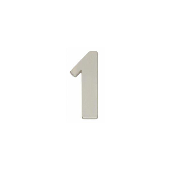 Intersteel Huisnummer 1 nikkel mat