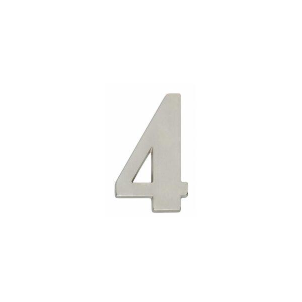 Intersteel Huisnummer 4 nikkel mat