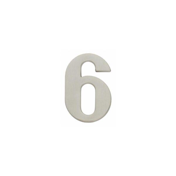 Intersteel Huisnummer 6 nikkel mat