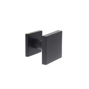 Intersteel Voordeurknop vast vierkant mat zwart