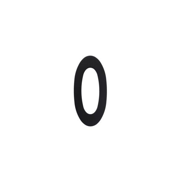 Intersteel Huisnummer 0 rvs mat zwart