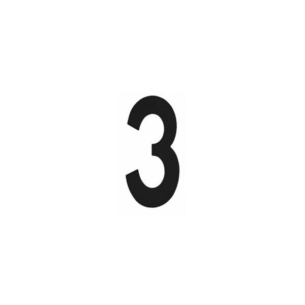 Intersteel Huisnummer 3 rvs mat zwart