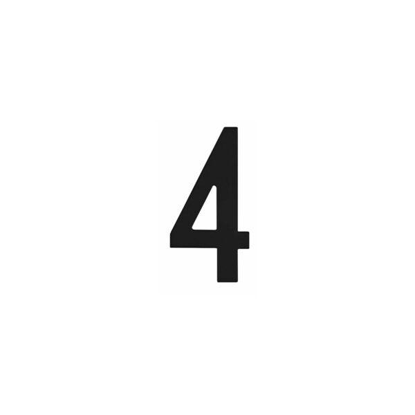 Intersteel Huisnummer 4 rvs mat zwart