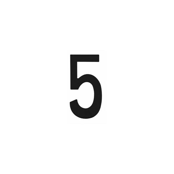 Intersteel Huisnummer 5 rvs mat zwart