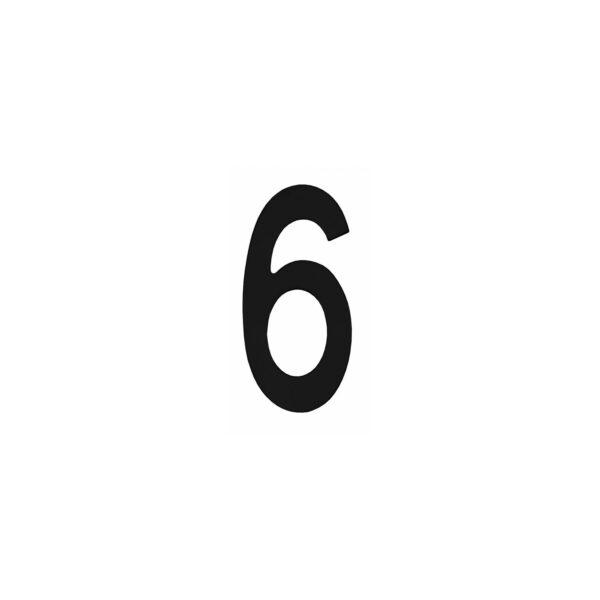 Intersteel Huisnummer 6 rvs mat zwart