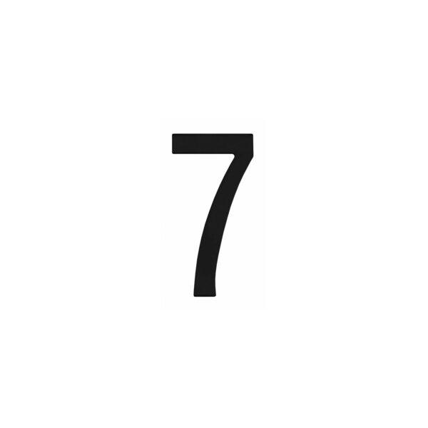 Intersteel Huisnummer 7 rvs mat zwart
