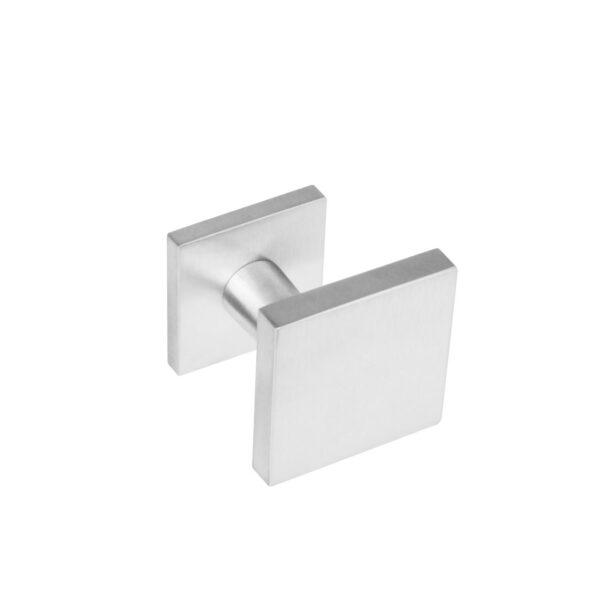 Intersteel Voordeurknop vierkant verkropt rvs geborsteld