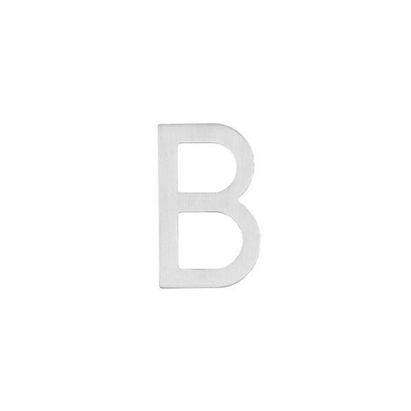 Intersteel Huisletter B 100 mm rvs geborsteld