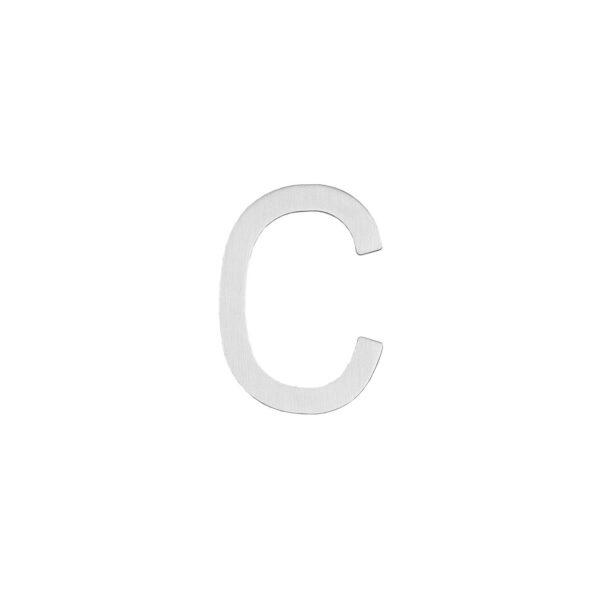 Intersteel Huisletter C 100 mm rvs geborsteld