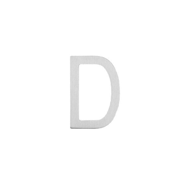 Intersteel Huisletter D 100 mm rvs geborsteld