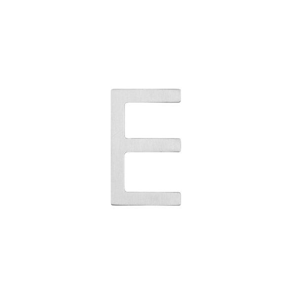 Intersteel Huisletter E 100 mm rvs geborsteld