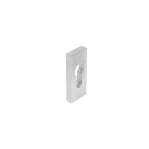Intersteel Veiligheid-schuifrozet rechthoekig 10 mm rvs geborsteld